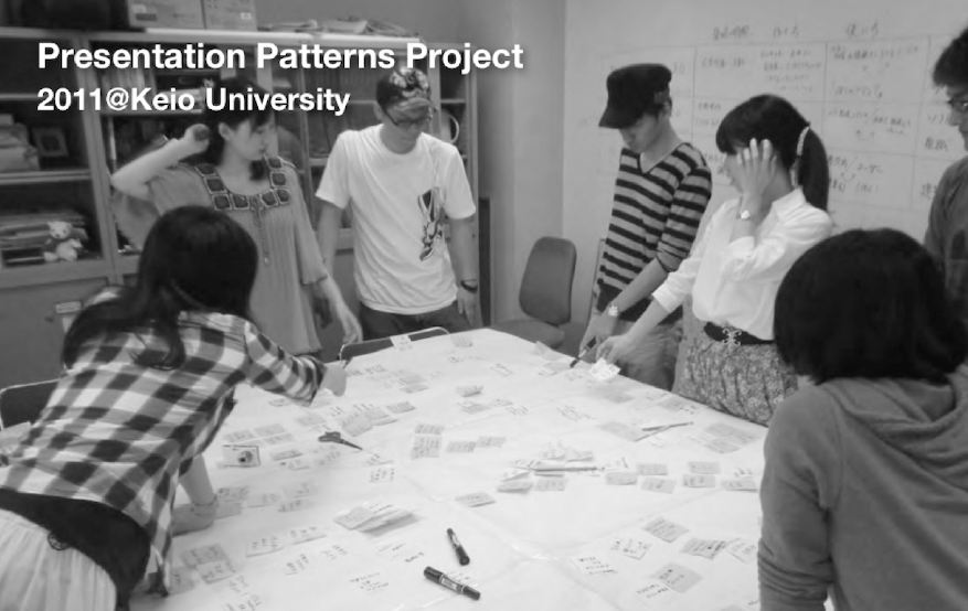 Figure 5: A group of students developing patterns. Photo courtesy of Takashi Iba.
